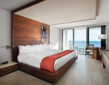 oceanview king bed room at costa d'este