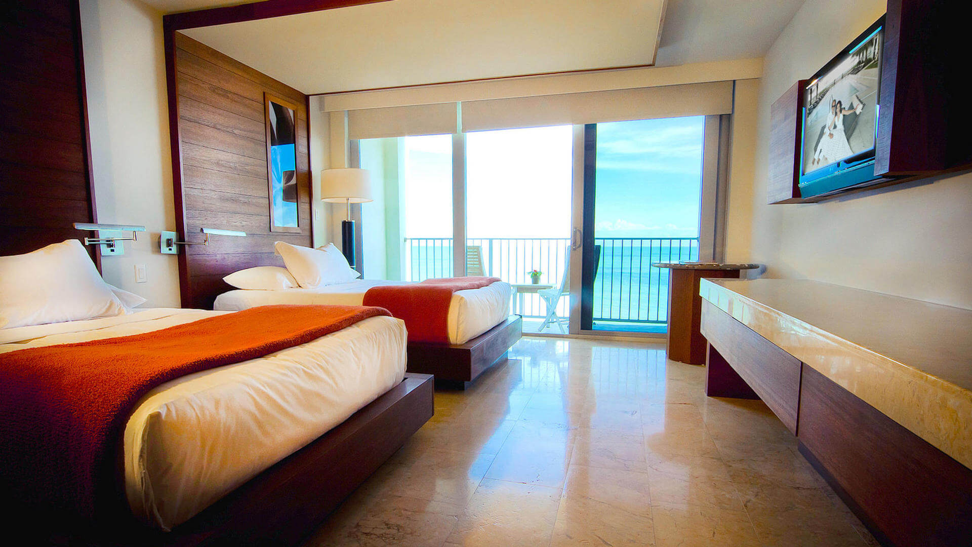 poolview room with two queen beds at costa d'este