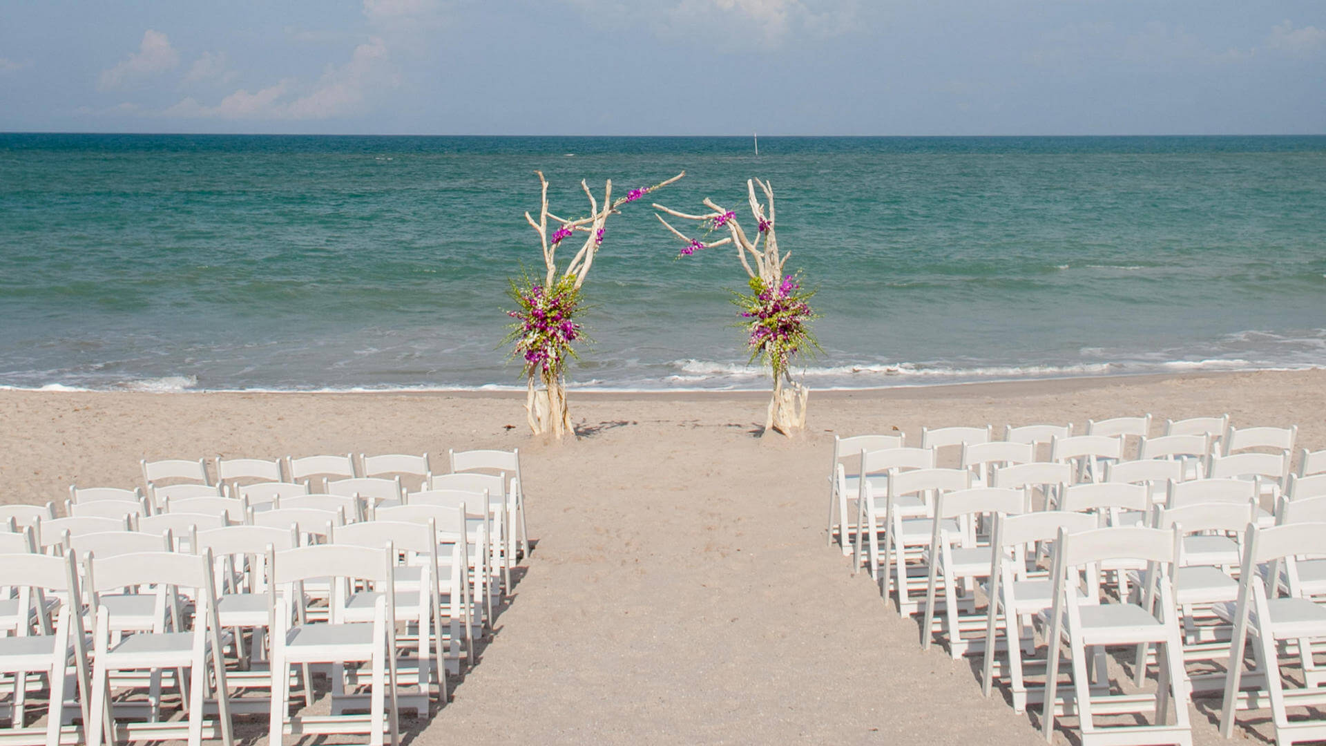 wedding setup on vero beach at costa d'este