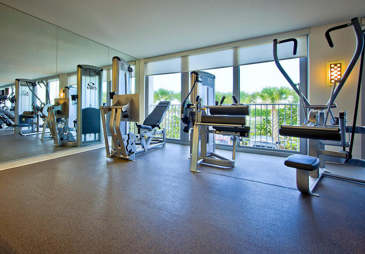 fitness room at costa d'este